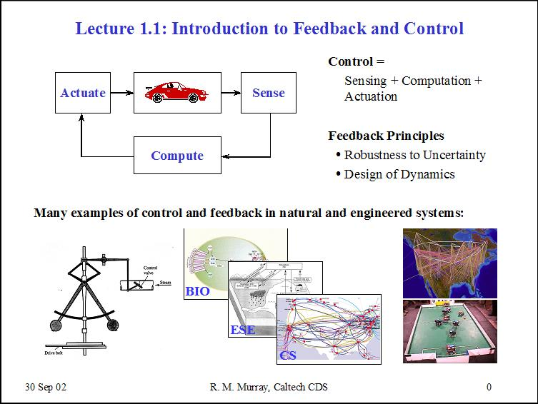 Lecture 11 Introduction To Feedback And Control